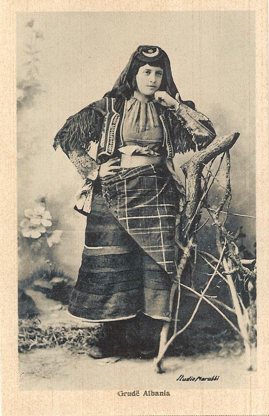 Marubi_photograph_woman_from_Grudë